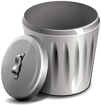 trash can illustration housekeeping tips