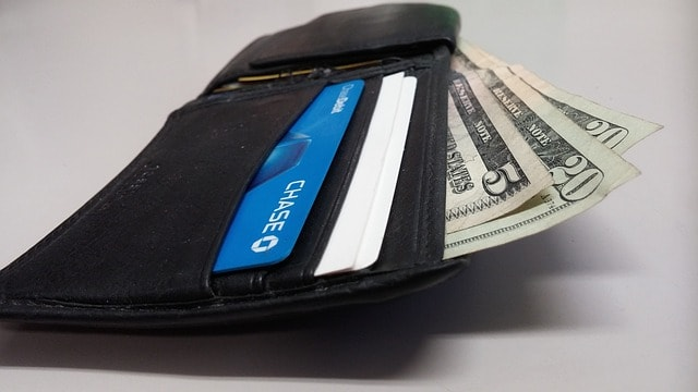 wallet with bills