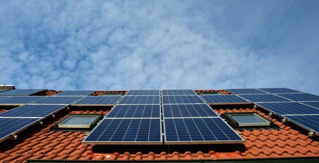 solar panels on houses roof